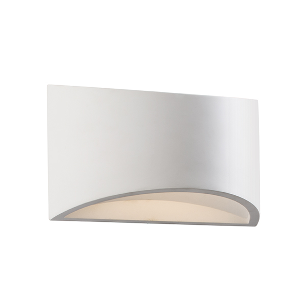 Small Solar Wall Lights : Toko 3W LED Small Plaster Wall Warm White 230LM 85526
