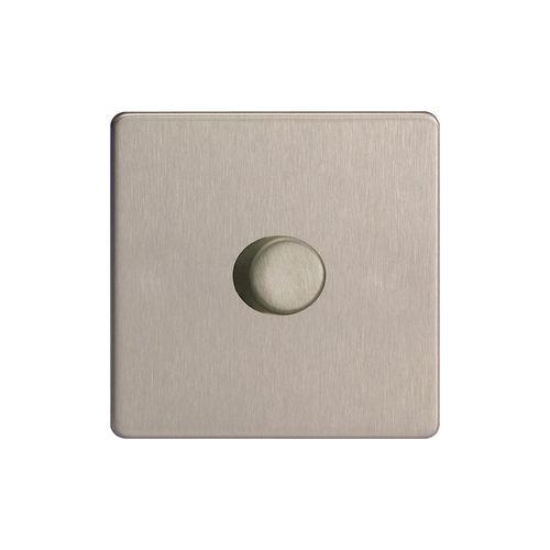varilight v pro brushed steel trailing edge screwless led. Black Bedroom Furniture Sets. Home Design Ideas