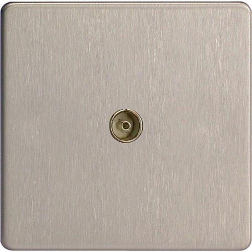 varilight screwless e58265 1 gang coax outlet screwless. Black Bedroom Furniture Sets. Home Design Ideas